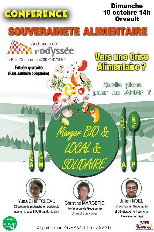 CONFÉRENCE: AMAP & Souveraineté Alimentaire